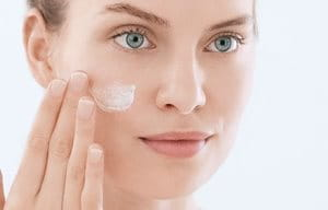 Apply moisturizer after using cleansing gel for acne-prone skin